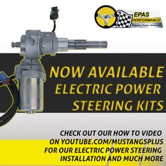 Electric Power Steering Kits now available. Got to our store http://www.mustangsplus.com/xcart/Mustang-Electric-Power-Steering/  to purchase these new kits.  Also check out our how to install video on electric power steering kits. http://youtu.be/N1fExx26nGY #mustangsplus   #electricpowersteering   #mustangs