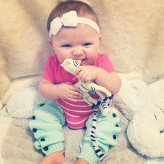 Photo of the day! Thank you for sharing, @style_brookeaurora! I'm so glad to see she is loving the Zeta Pacifier Clip and #zetazebra #teething toy! #teethingbaby #teething #newlittlewonders