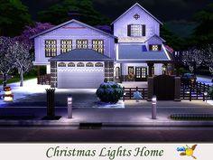 evi Christmas Lights Home Christmas And New Year, Christmas Home, Christmas Lights, Small Round Rugs, Bohemian Painting, Wedding Dressses, Sims 4 Houses, Big Kitchen, Sims Community