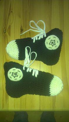 more Crochet Converse Socks