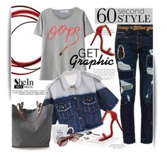 """""""60 Second Style: Graphic T-Shirts"""" by svijetlana ❤ liked on Polyvore featuring Tortoise, Independent Reign, polyvoreeditorial, getgraphic and 60secondstyle"""