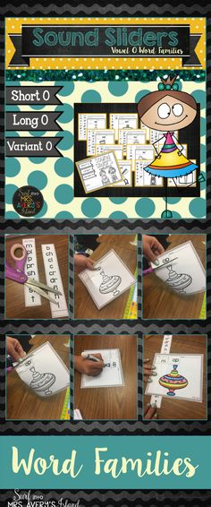 Looking for ideas or activities for your students learning about word families? These no prep word family printables are an awesome phonics resource for kids increasing their reading fluency! Perfect for morning work, literacy centers, Daily 5 Work on Words, inside recess activities, fast finisher activities, etc. Click here to take a look at these fun sound sliders!