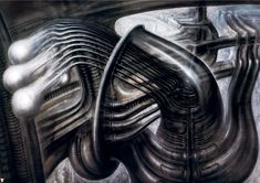 H.R. Giger (Hans Rüdi Giger) #hrgiger #scifi #sciencefiction #art #surreal #surrealism
