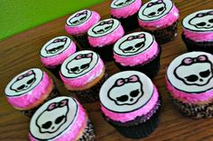 $17 - Hand Painted Monster High Cupcake toppers