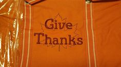 Maple leaf for fall personalization. -Get this on one of the versatile Large Utility Totes in Spirit Orange with Burgundy or Brown thread color and store all your fall decorations and easily identify them year after year!