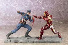 Civil War Captain America and Iron Man Mark XLVI ArtFx Statue by Kotobukiya