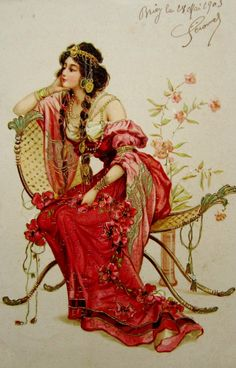 postcardiva postcard blog: ART NOUVEAU POSTCARDS