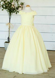 Chiffon Off The Shoulder Flowergirl Dress Off The Shoulder, Bridesmaids, Ball Gowns, Chiffon, Flower Girl Dresses, Formal Dresses, Fashion, Ball Gown Dresses, Moda
