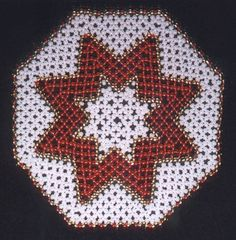 Perline - centro Crochet Bedspread Pattern, Angel Wing Earrings, Beaded Bags, Bobbin Lace, Cross Stitch Designs, Bead Weaving, Beading Patterns, Doilies, Xmas
