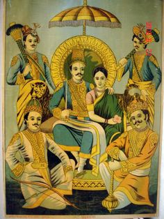 http://www.findmessages.com/the-five-pandavas-with-draupadi
