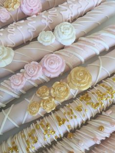 Pink and Gold Chocolate Pretzel Rods/Baby Shower Treats/Girl's Birthday/Bridal Shower/Girl's Party Treats/Chocolate Pretzels/Paris Theme Baby Shower Sweets, Bridal Shower Desserts, Bridal Shower Party, Bridal Showers, Chocolate Pretzel Rods, Chocolate Covered Pretzels, Chocolate Flowers, Pink And Gold, Deserts