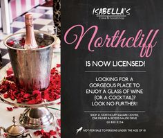For our fabulous friends at Northcliff Square! Wine Cocktails, New Menu, Menu Items, Sweets, Friends, Glass, Food, Sweet Pastries, Amigos