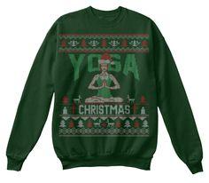 Yoga Christmas Sweater Deep Forest  Sweatshirt Front