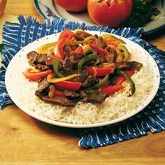 Pepper Steak! Delish! I use 2 cans of beef broth instead of 1... more sauce, more flavor!