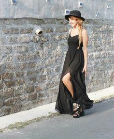 maxi dress sabrina musco summer outfit black