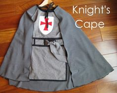 Last year, I made Joshie a templar knight costume .  It was a little too big last year but it fits perfectly now.  He agreed to wear it...