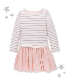 Petit Bateau Striped Dress with Tulle Baby Icon 5cd5e375951