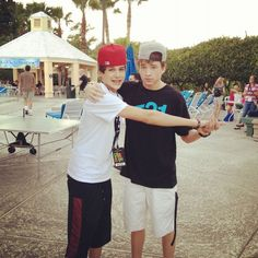 Austin Mahone and Peyton Sanders... Otherwise known as ameezy and psanders