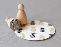 Garter Girl Loves: This small pineapple stamp