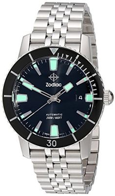 Men's Wrist Watches - Zodiac Mens ZO9250 Heritage Automatic Stainless Steel Watch >>> Click image to review more details. (This is an Amazon affiliate link)