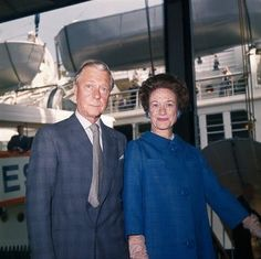 New York, New York: Duke and Duchess of Windsor aboard SS United States, silver wedding anniversary.June 1, 1962.