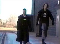 Eric Harris and Dylan Klebold, school shooter involved in The Columbine Massacre, in a home video