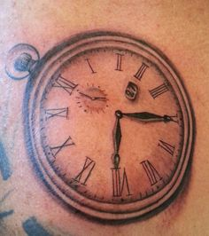 clock watch tattoo