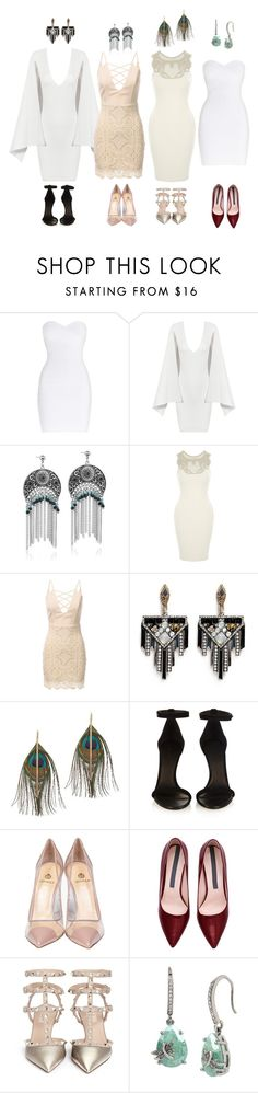 """Untitled #39"" by angelacl ❤ liked on Polyvore featuring Hervé Léger, Posh Girl, Lulu Frost, Serefina, Isabel Marant, Semilla, Valentino and Betsey Johnson"
