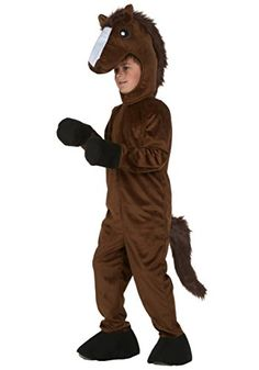 Start with a simple jogging suit to make this quick and easy no-sew DIY kids horse costume for halloween or play. Comfy, inexpensive and super cute!