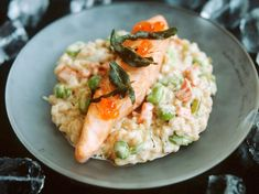 Risotto saumon parmesan Edamame, Parmesan Risotto, Light Recipes, Italian Recipes, Entrees, Meal Prep, Food Porn, Food And Drink, Nutrition