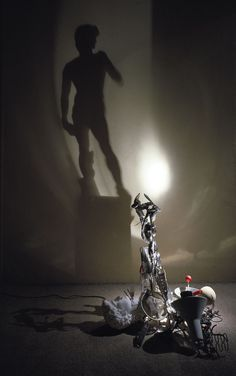 David - Light and Shadow Sculpture by Diet Wiegman Shadow Images, Shadow Art, Shadow Play, Panda Painting, Postmodern Art, Sculpture Metal, Art Sculptures, Van Gogh, Museums