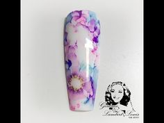 Floral sharpie nail - YouTube