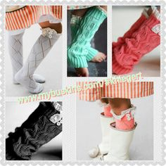 Girls boot socks! Aren't these just the cutest things ever!? khiegert.mybuskins.com
