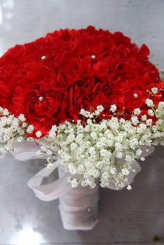 red pink carnation bouquet | Four Leaf Events: January's Flower: Carnation