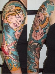 pop art tattoo, courtesy of Alison Frances, who *knows* tattoos -- and tattooists! ;-)