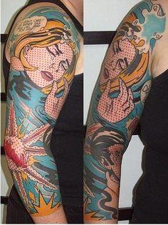 pop art tattoo