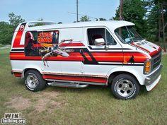Star Wars-Themed Dodge Ram Van, I'd drive it around. Star Wars Vans, Dodge Ram Van, Chevy Van, Customised Vans, Custom Vans, Volkswagen Transporter, Vw Bus, Old School Vans, Vanz