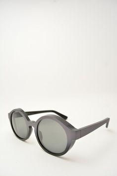 Logos ANDREA black and grey sunglasses #glasses #eyewear #logos #roundshape #blackmatte #greymatte #bassanodelgrappa #designglasses #design #cheap online store at www.bassanooptical.com
