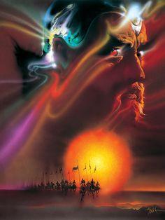 """Bob Peak Art for the (1981) John Boorman Directed Film """"Excalibur."""""""