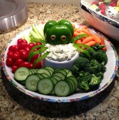 Octopus veggies for nautical theme baby shower. | How Do It Info