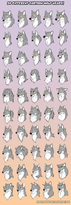 I like the way they change the facial structure of the wolf. To me, that's one of the greatest ways to make a character unique.