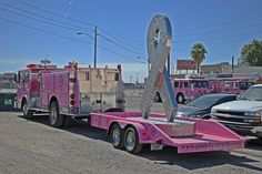 Breast Cancer Awareness Month. 10-14-15. Photo from Pink Heels, Inc./Pink Fire Truck