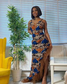 Slay in these head-turning, eye-popping ankara styles Long African Dresses, Latest African Fashion Dresses, African Wear, African Attire, Ankara Fashion, African Style, African Tops For Women, Ankara Styles For Women, Beautiful Ankara Styles