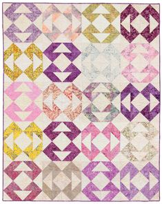 Fascination quilt from  the new book Large-Block Quilts