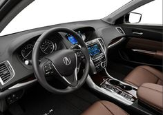 2015 Acura TLX White Sedan interior steering wheel full front dashboard center console For more info Call: 1-855-383-1171
