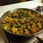 Aloo Gobi (Curried Potatoes, Cauliflower, and Peas) – Plant Based on a Budget