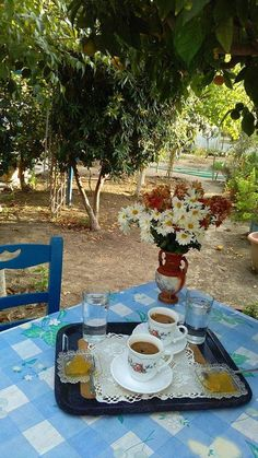 Bakery Display Case, Coffee Time, Tea Time, Nice View, Greece, Sweet Home, Table Settings, Table Decorations, Inspiration