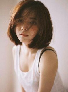 korean girl with short hair