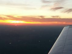 Sunset in a Piper Archer at 4,500'