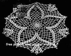 Cluster Stitch Doily    Doilies  Star Doily Book No. 145  American Yarn Company